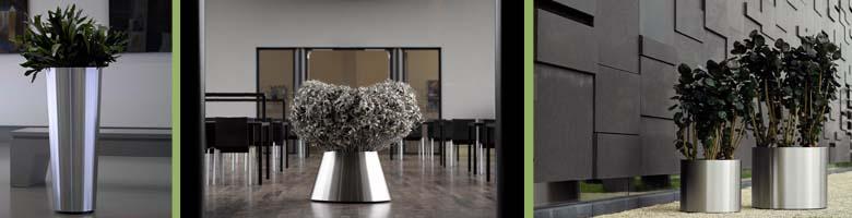 Superline Pflanzgefäße aus Edelstahl für innen und außen