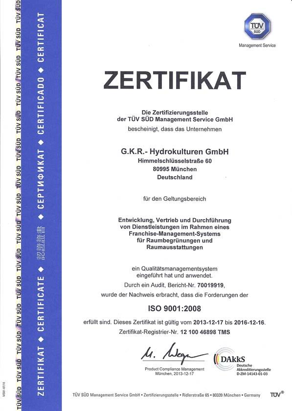 Qualitätsmanagementsystem nach ISO 9001:2008