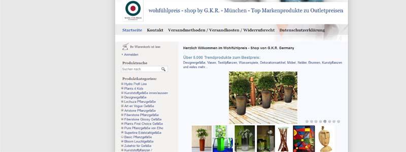 Onlineshop der GKR