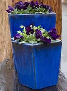Blaue Keramik
