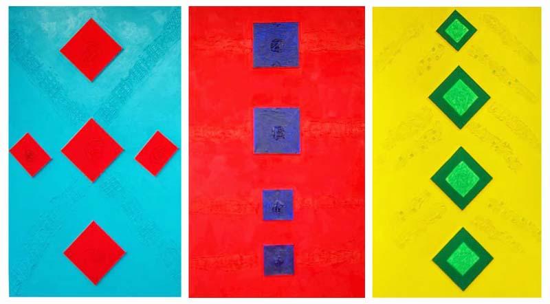 Triptychon Arbeit_Freude_Zeit I